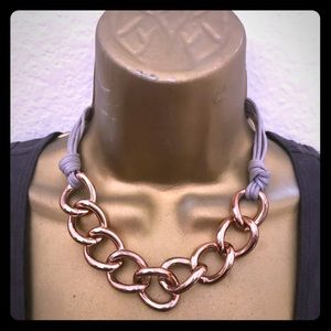 Women's Designer Rosegold large link necklace